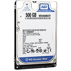 "WD  HDD 2.5"" 500 GB 5400rpm S-ATA for Notebook"