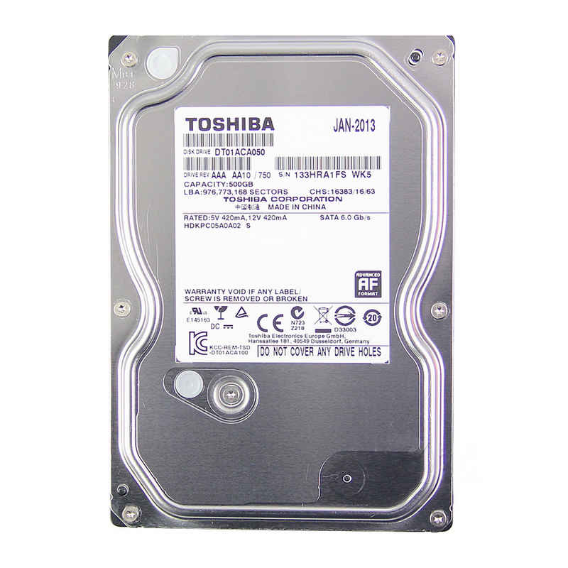 TOSHIBA HDD 500G 7200rpm S-ATA3 / 6Gb/s    16Mb Cache ( tem FPT )
