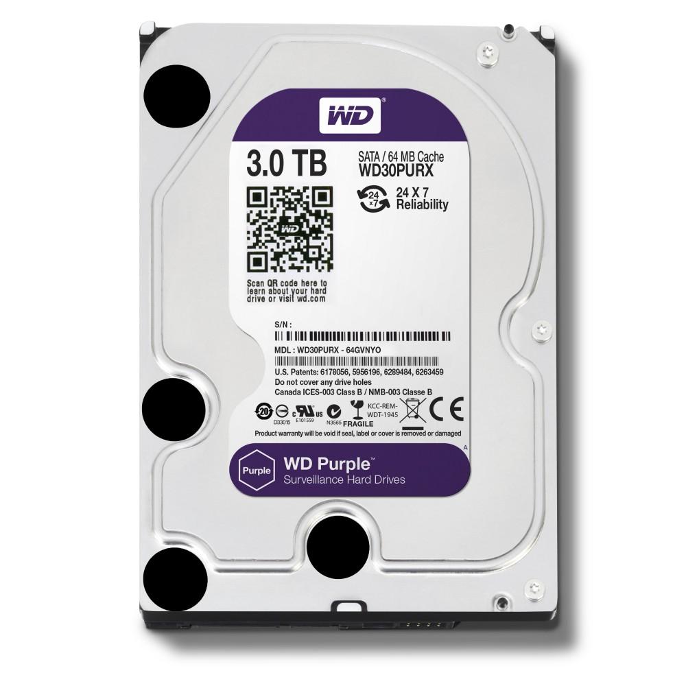WD HDD Purple 3TB 3.5