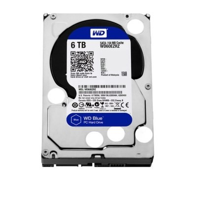WD Blue HDD 6TB 5400 S-ATA3 / 6Gb/s    64Mb Cache