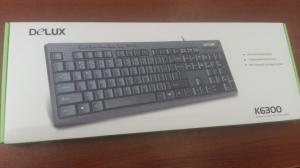 Bàn phím máy tính có dây Delux K6300U - mầu đen