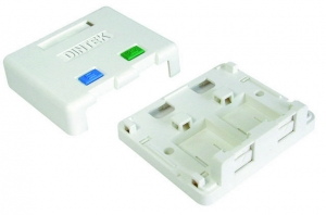 Ổ mạng nổi 2 port Dintek - Surface mount box 1301-02013
