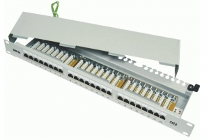 Patch panel 24 Port, CAT.6, Fully Shielded 19