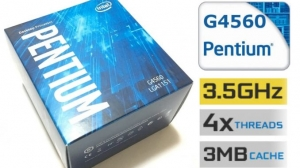 CPU Intel Pentium G4560 3.5 GHz / 3MB / HD 600 Series Graphics / Socket 1151 (Kabylake)