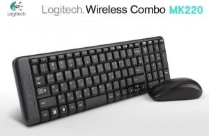 Bộ chuột bàn phím chuột wireless Logitech MK220
