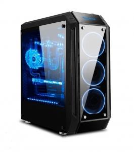 vỏ case máy tính SEGOTEP K9 - tempered glass